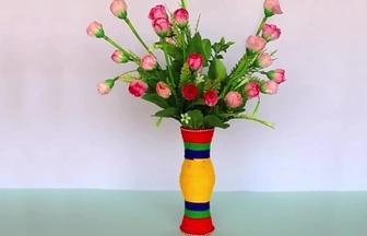 一次性杯子回收再利用做漂亮花瓶