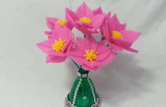 DIY粉粉噠蔥蘭風雨花盆栽