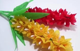 利用購物布袋子DIY美麗花束