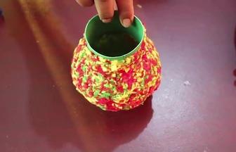 廢舊塑料壺改造為插花瓶子教學