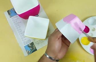 用廢紙教你做漂亮的方形花盆
