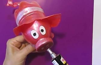 寶特瓶子DIY懷舊小豬存錢罐