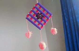 使用廢雪糕棍DIY懸掛風鈴裝飾
