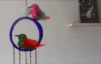 用泡沫箱DIY有趣的風鈴懸掛