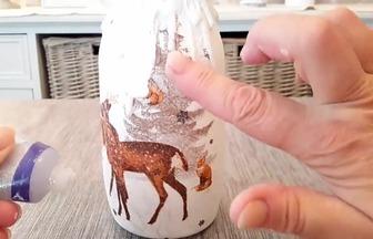 玻璃瓶DIY顏值滿分的圣誕裝飾品