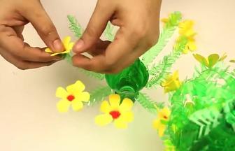 DIY雪碧瓶盆栽花擺設裝飾