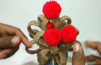用塑料瓶DIY好看的家裝花藝擺件