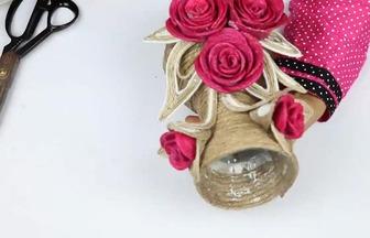 用廢瓶子制作DIY漂亮花瓶
