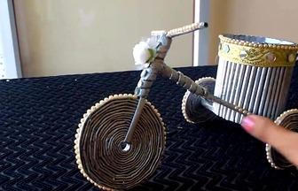 怎樣用報紙打造唯美三輪車模型