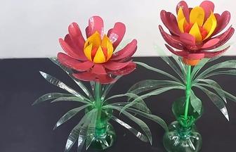 汽水寶特瓶DIY美麗花束