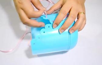 牛奶瓶制作洗護用品收納盒
