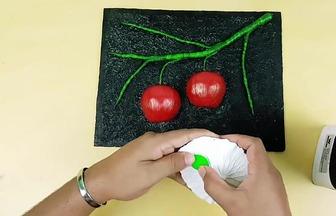 DIY創意獨特的立體蘋果裝飾畫