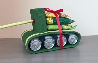 利用生活廢品打造有趣的玩具坦克