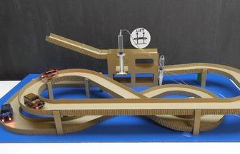 手工紙板教程玩具車跑道