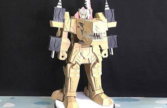 紙板DIY變形玩具模型