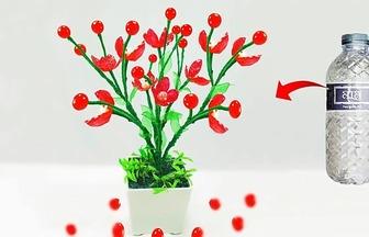 如何制作一盆塑膠盆栽花卉
