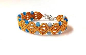 手工編繩制作菱形寶珠手鏈