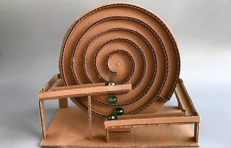 DIY紙板玩具螺旋運珠機