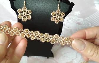 怎么用串珠做一款項鏈和耳環
