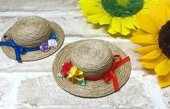 DIY夏季裝飾袖珍小草帽