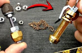 用螺絲和螺栓制作有趣掛件