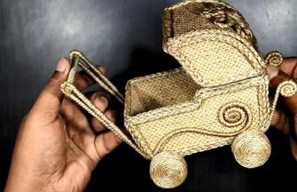 制作嬰兒車形狀的收納盒