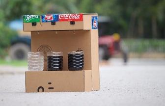 使用廢棄的紙板制作DIY飲料機