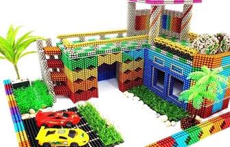 用20000顆巴克球DIY一棟玩具屋