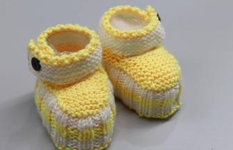 針織可愛的寶寶毛線鞋子教程