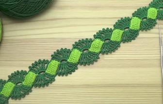 教你鉤織精美雙色花邊