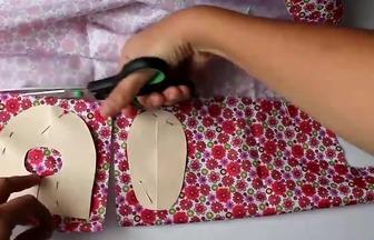 利用廢床單DIY寶寶學步鞋