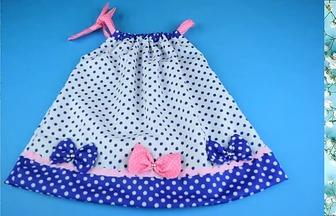 用舊衣物給女兒制作的漂亮小裙子