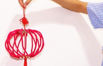 手工制作一個國慶節大紅燈籠