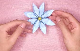 簡單的折紙小步驟,教你做出漂亮的小花簪