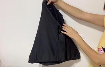 教你用家里舊褲子做個購物袋