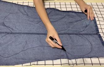 教你用家里的衣物布料巧做抱枕