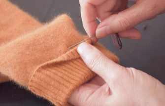 教你不拆不剪無痕改短羊毛衫袖