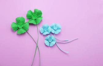 如何折紙做一片小清新幸運四葉草