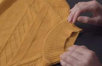 高領毛衣改低領!教你不拆剪1分多鐘就能改好
