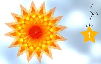 DIY很漂亮的透光折紙花朵