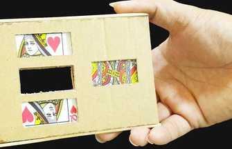 很有意思的紙牌魔術道具制作教程