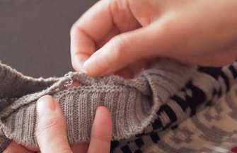 中高領毛衣改造成圓領款式簡單方法