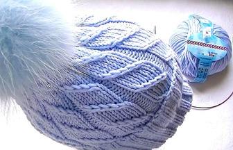 如何用環形針編織帽子