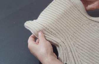 高領毛衣領子松垮?教你手工改成中低領,方法簡單又好看