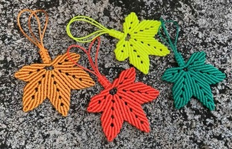 教你如何編楓葉形狀的鑰匙鏈