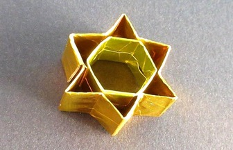 DIY閃閃發光的折紙六芒星