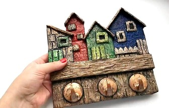 舊物改造DIY,用紙箱做掛鉤