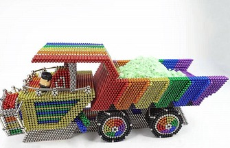 創意手工,用巴克球制作卡車模型