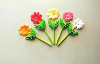 手工紙藝教程,漂亮的花朵的簡單做法