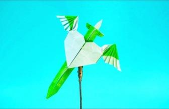 教你折紙帥氣的天使圣劍書簽